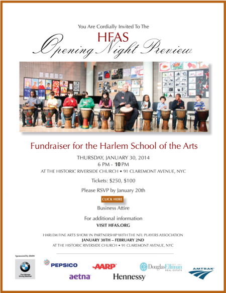The 2014 Harlem Fine Arts Show (click here to purchase tickets)